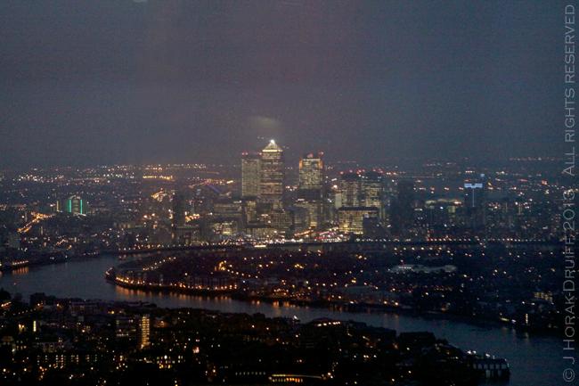 The Shard Canary Wharf at night © J Horak-Druiff 2013