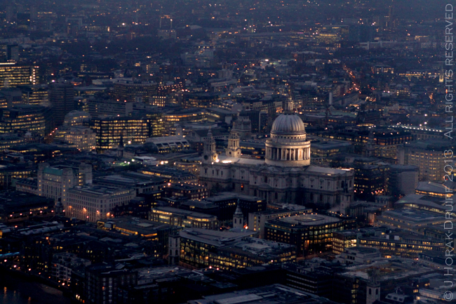 View from The Shard St Pauls © J Horak-Druiff 2013