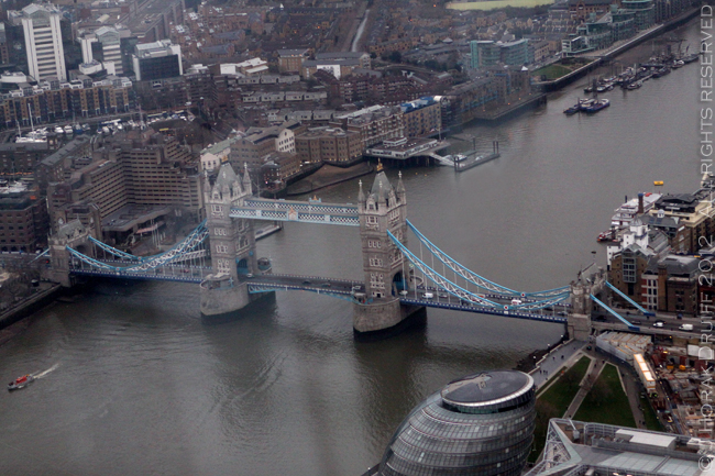 View from The Shard Tower Bridge 1 © J Horak-Druiff 2013