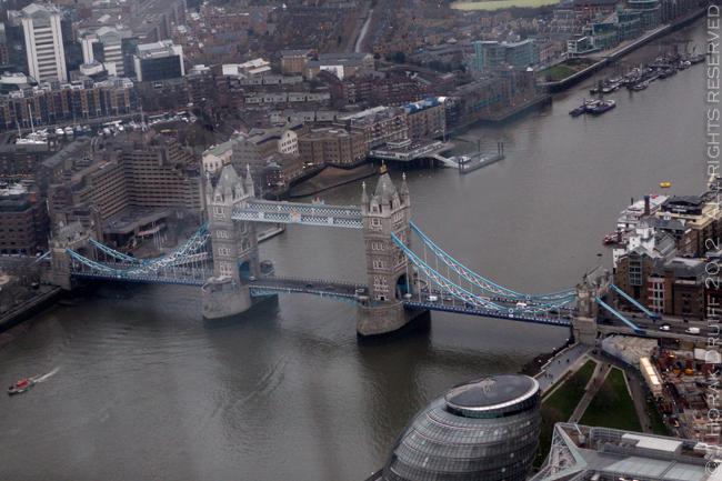 View from The Shard Tower Bridge 1 © J Horak-Druiff 2013