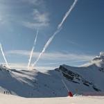 Snowy Jet Trails © J Horak-Druiff 2013