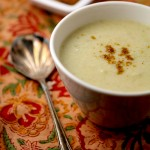 Roasted cauliflower soup with garam masala for in between days