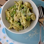 Creamy chicken, pea & pesto pasta recipe