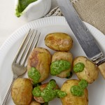 Papas arrugadas con mojo verde (Canary Islands wrinkled potatoes)