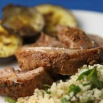 Moroccan spiced lamb breast with herb couscous