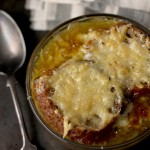 French onion soup with Comté cheese toasts