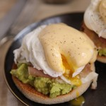 Avocado & Parma ham eggs Benedict with fearless Hollandaise