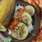 Kousa mahshi (Lebanese stuffed courgettes)