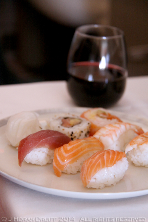 Singapore Airlines Business Class Sushi