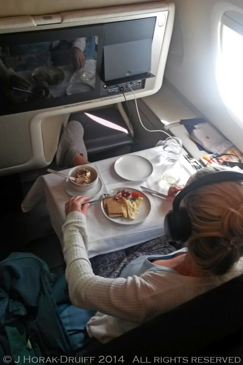 Singapore Airlines Business Class Table