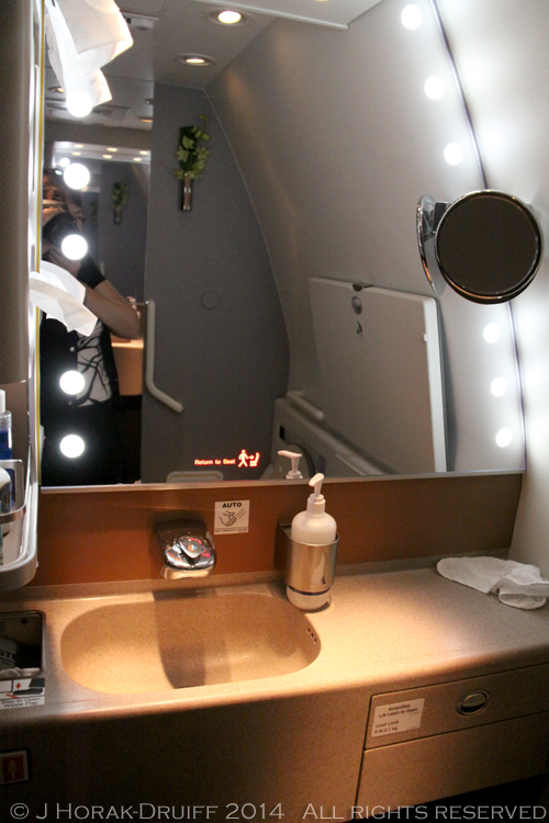 Singapore Airlines Business Class Bathroom