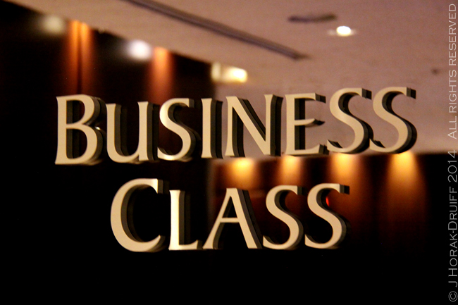SingaporeChangiBusinessClassSign