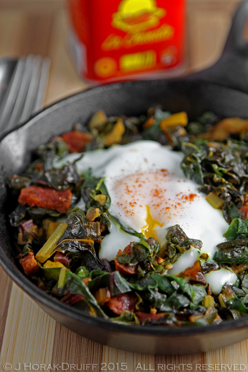 Swiss chard with chorizo and eggs: a one-pan wonder - Cooksister ...