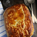 Cheesy chicken leek and tarragon pot-pie