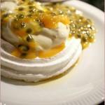 Passion fruit mini pavlovas for A Taste of Yellow 2009