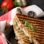 Margherita pizza grilled cheese sandwiches