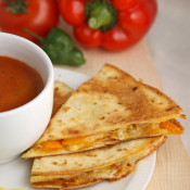 Smoky cheese, pepper & chipotle Mexican quesadillas
