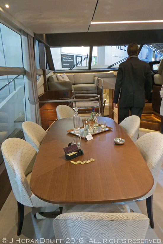 London-Boat-Show-Princess75-DiningArea