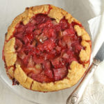 Rhubarb and strawberry galettes