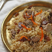 Afghani lamb pulao from Summers Under the Tamarind Tree