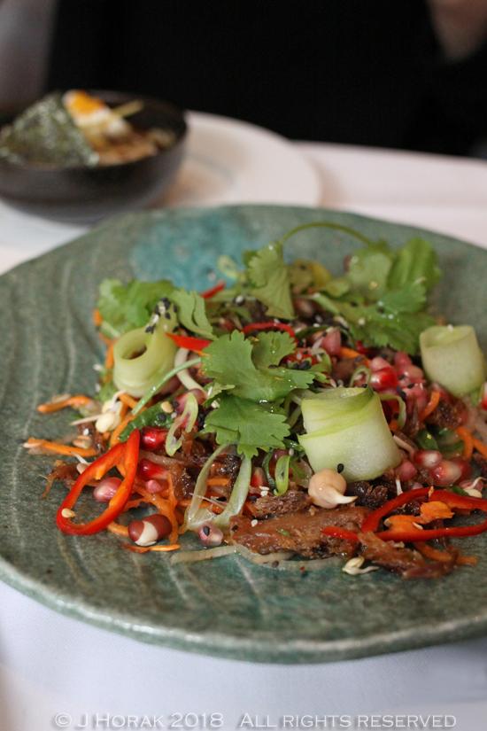 Devonshire_Club_Sushi_brunch_Crispy_Duck_Salad