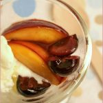 Caramelised nectarines and cherries
