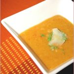 Ronel's roasted pepper and red lentil soup