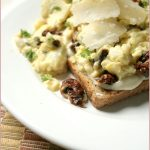 Scrambled eggs with sun-dried tomato & Parmesan