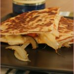 Lunch in a flash – cheesy vegetable quesadillas