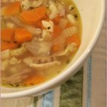 Chicken noodle soup for a sick husband