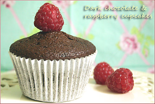 Dark-chocolate-raspberry-cupcakes