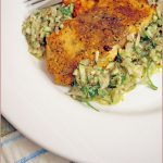 Spicy salmon fillets with fresh herb salsa