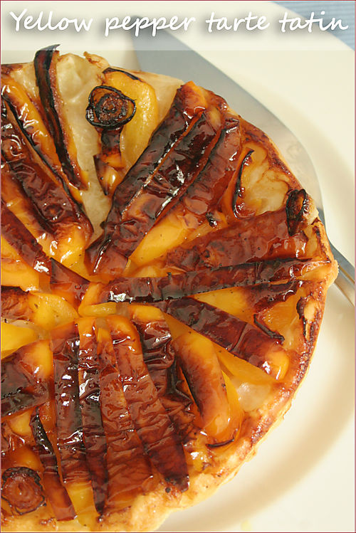 Yellow-pepper-tarte-tatin