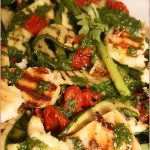 Char-grilled asparagus, courgette and haloumi salad – I'm in love!