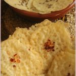 Chile-cheese and caraway-cheese crisps