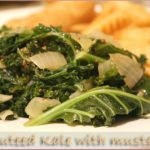 Sauteed curly kale with wholegrain mustard