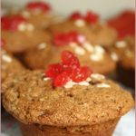 Oat and cherry muffins