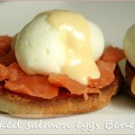 Smoked salmon eggs Benedict for an anniversary breakfast