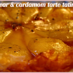 Pear and cardamom tarte tatin