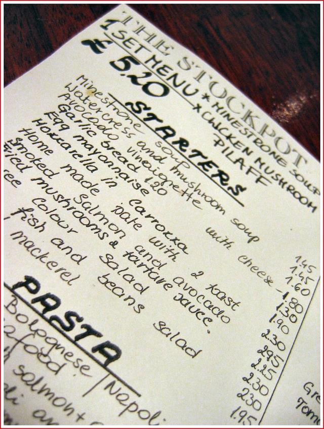 Stockpot-menu