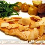 Trout with almonds and samphire