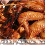 Sticky BBQ chicken sundowners