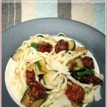 Slow-roast tomato and zucchini pasta
