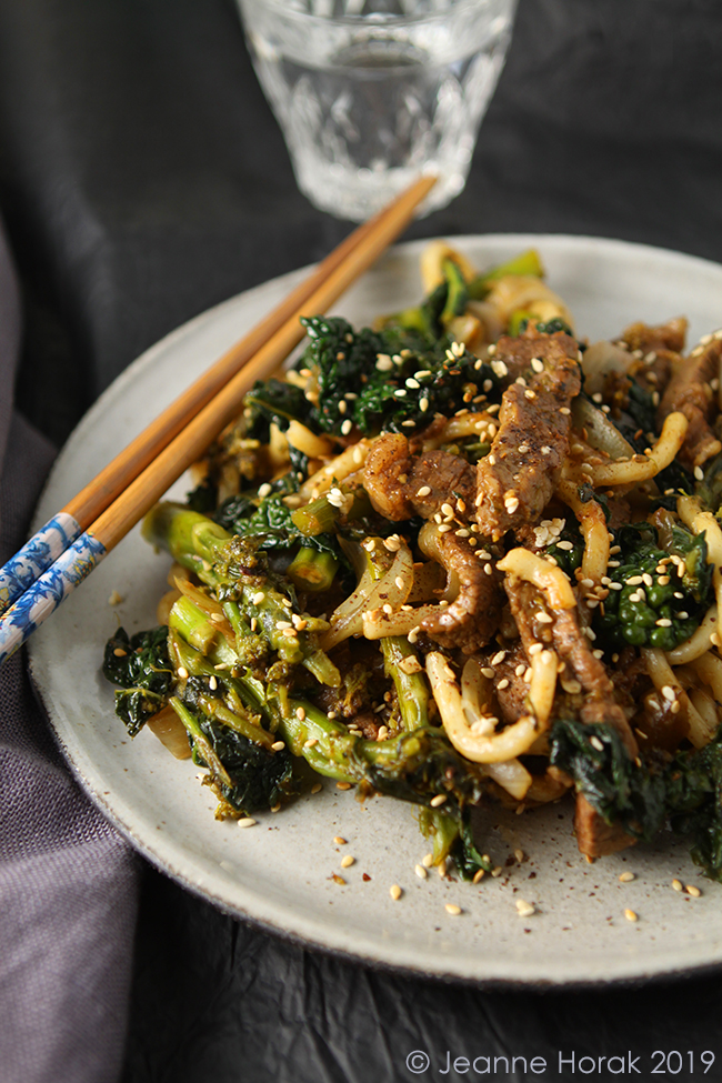 Beef Broccoli And Udon Noodle Stir Fry From The Japanese Larder By Luiz Hara Cooksister Food Travel Photography