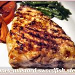 Honey-mustard-swordfish-steaks