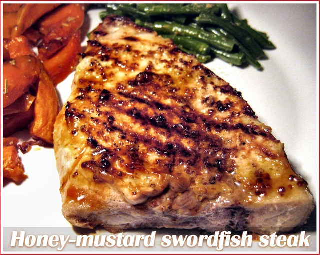 Honey-mustard-swordfish-steaks