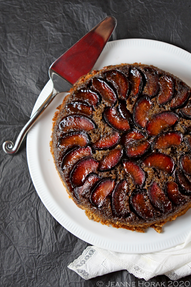 Plum upside down cake