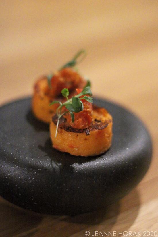 Sweet potato canape