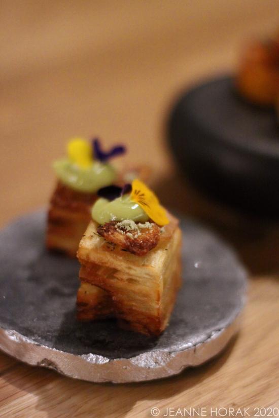 Breadfruit canape