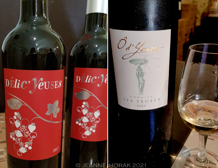 Les Yeuses wine labels